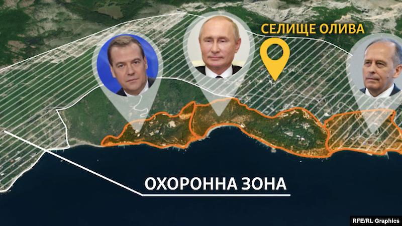 """Журналисты нашли в Крыму еще один """"дворец"""" Путина с километровой охранной зоной - фото"""